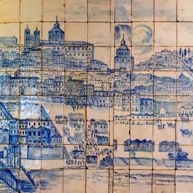 Музей на плочките - Панорама на Лисабон преди 1755 г.