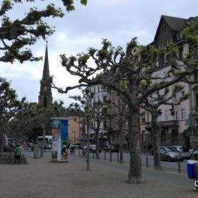 Франкфурт -ранна пролет.