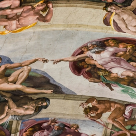 Сътворението на Адам - Микеланджело, 1511 г.Сикстинската капела
