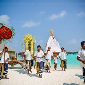 Сватбена церемония на Малдивите