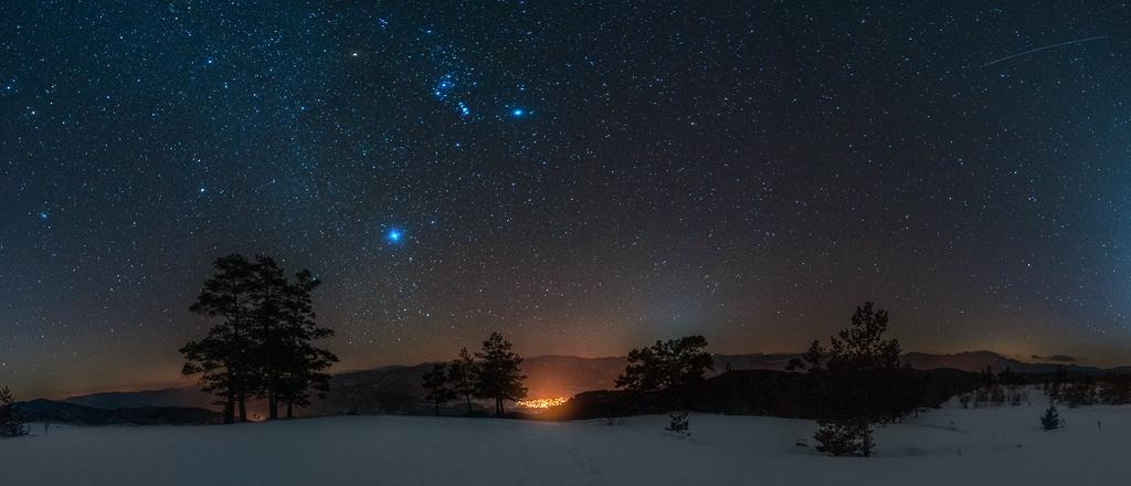 Вечерно панорамно от Родопите
