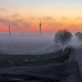 Мъглива вечер...