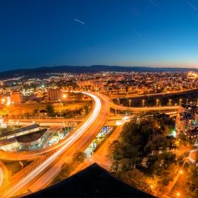 От покрива на Пловдив