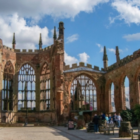 Coventry Cathedral garden..
