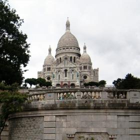 Поглед към  Basilique du Sacre Coeur