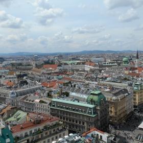 Поглед от катедралата Св. Стефан, Виена