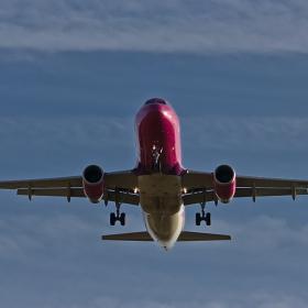 Полет W6 4337 на Wizz Air от София до Hahn- секунди преди кацането
