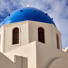 Blue dome and blue sky....Greece...