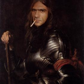 Антони Ван Дайк: Портрет на граф дьо Жеч в броня и червена кърпа. 1625-1627г.