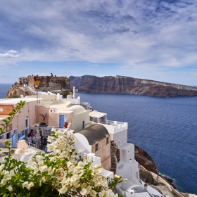 View to Oia's old casstle