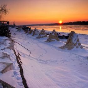 Снежните пясъчни фигури в Русе