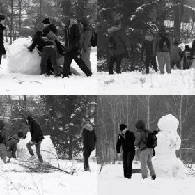 Опит да направят снежен човек