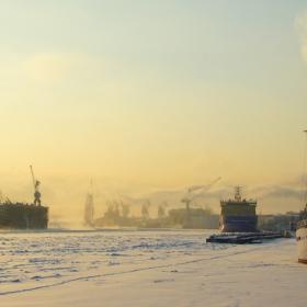 Морозный день в Санкт-Петербурге