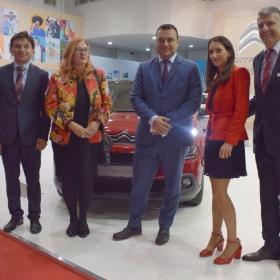Автомобилен Салон София 2017: Министър Ивайло Московски  посети щанда на Ситроен