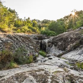 Пресъхналият водопад Казанките