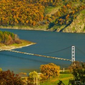 най-дългия въжен мост в България до село Лисиците-язовир Студен кладенец