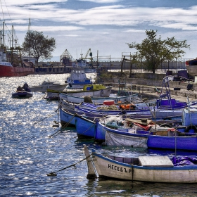Пристанът в Несебър