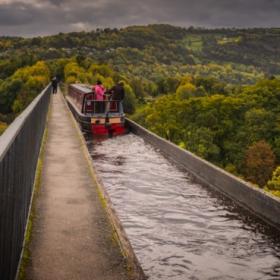 Pontcysyllte Aqueduct, Wales - две кликвания, моля