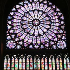 Стъклопис - Нотр Дам дьо Шартър, Париж