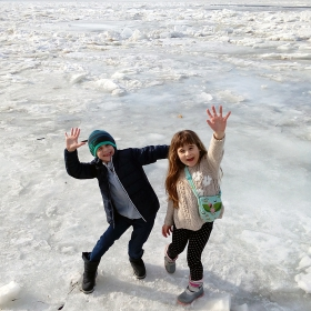 Тихият бял Дунав съвсем побеля и утихна под леда