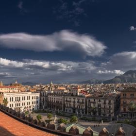 Palermo от покрива на катедралата - цял екран с две кликвания, моля