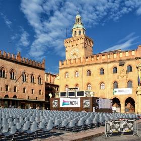 Лятно кино Ritrovato, Piazza Maggiore, Болоня*
