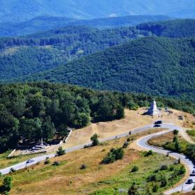 Шипка-Поглед от върха на паметника