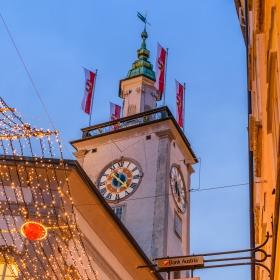 Часовниковата кула на кметството в Залцбург