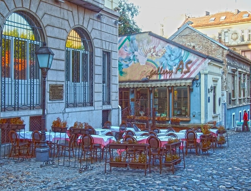Белград - Кафани на улица Скадарлия 2