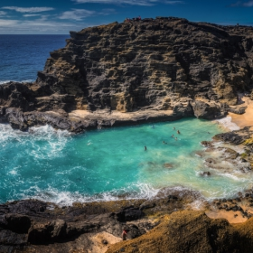 Halona Blow Hole and Cove Hawaii