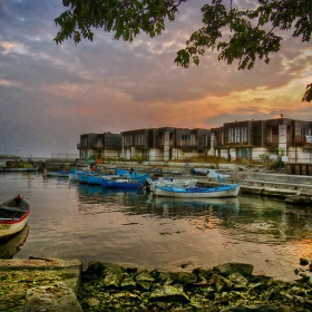 Залезно край несебърския пристан