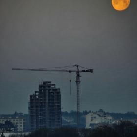 Софийският залез на Голямата Кървава Синя Вълча.... Луна
