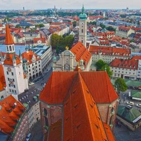 Мюнхен от птичи поглед