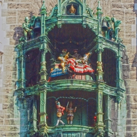 Мюнхен - Часовникова кула - детайл