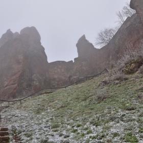 Мразовито и мъгливо Белоградчишко кале