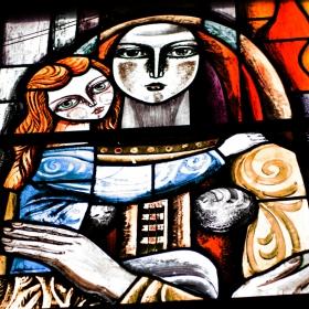 Витраж - Жена и дете