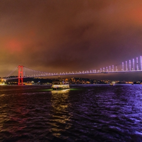 Нощен Истанбул - Босфора