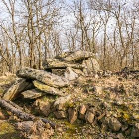 Долмен скрит в гората