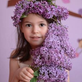 Портрет в лилаво