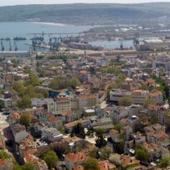 Панорама на централната част на Варна