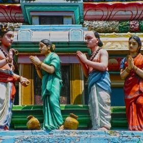 Индийски храм - детайл