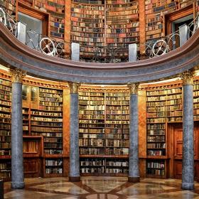 В библиотеката на Pannonhalma Аrchabbey