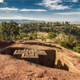 Етиопия Лалибела Църквата Свети Георги