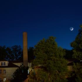 Младата Луна с Венера-17.05.2018г.22ч.запад