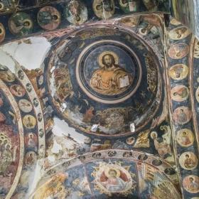 Детайли от храма в манастира Cerneti