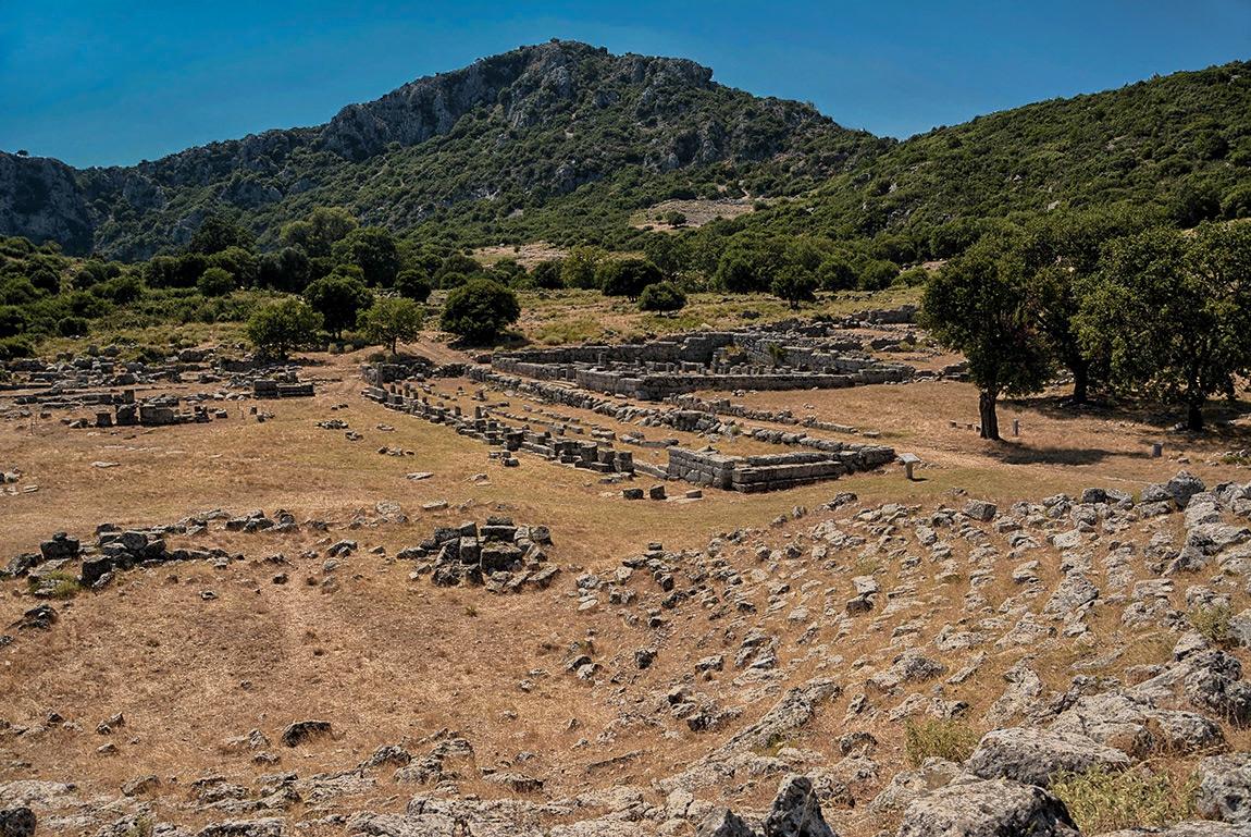Руините на Ancient Kassopе, IV век пр.Хр. - 167 г.