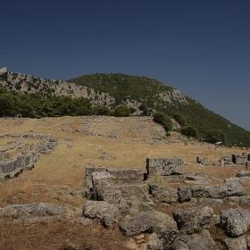Руините на Cassope, IV век пр.н.е.