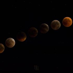 Хронология на Лунното затъмнение
