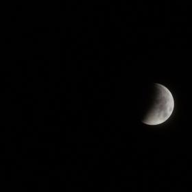 Начало на пълното лунно затъмнение-21.01.2019г.05.50ч.Запад