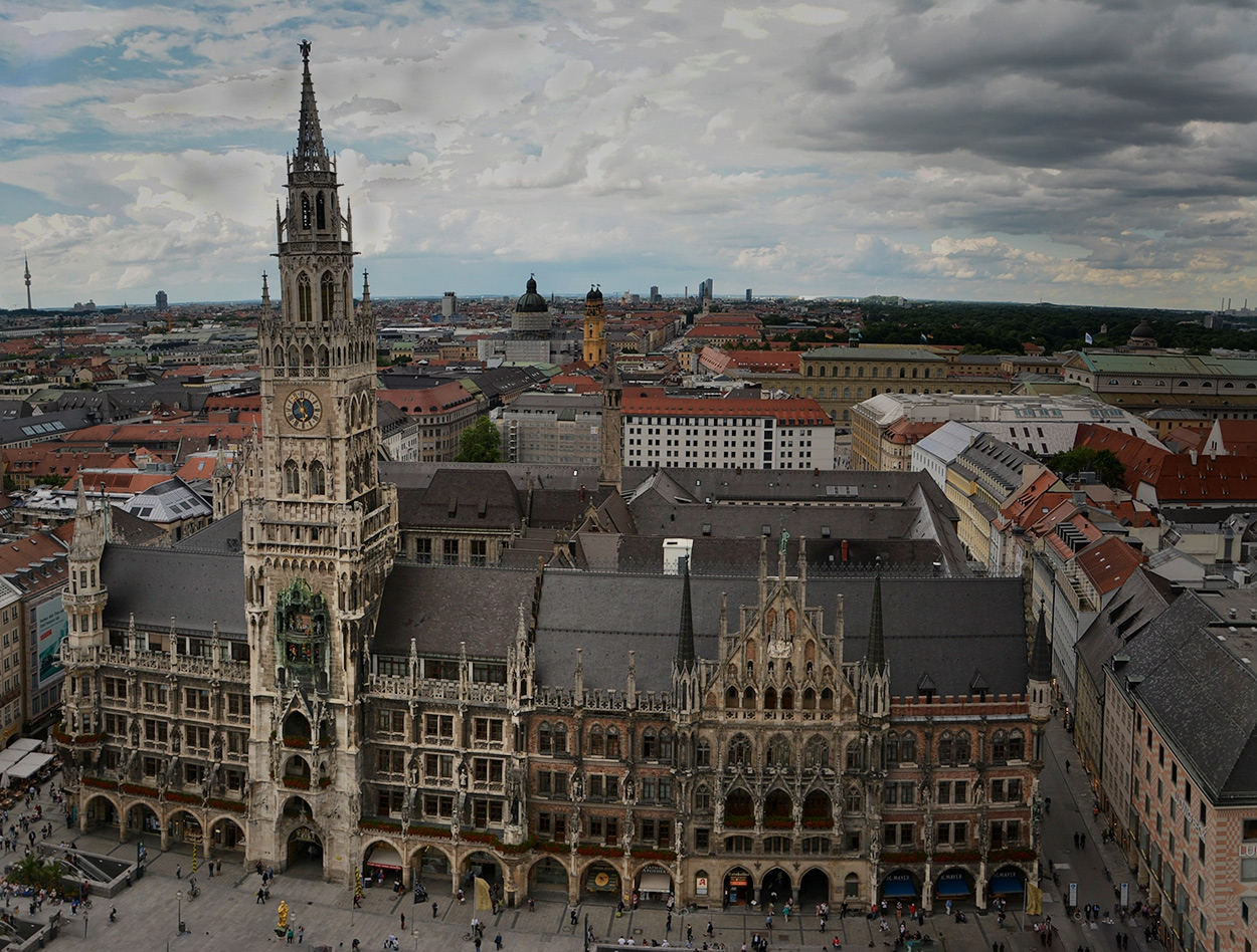 Neues Rathaus, Munchen, 1867-1909 г.